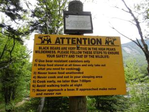 Warning sign at our campsite
