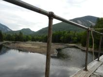 A view from Marcy Dam from our breakfast spot