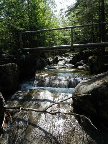 Bridge/waterfall on the way to Phelps mountain.