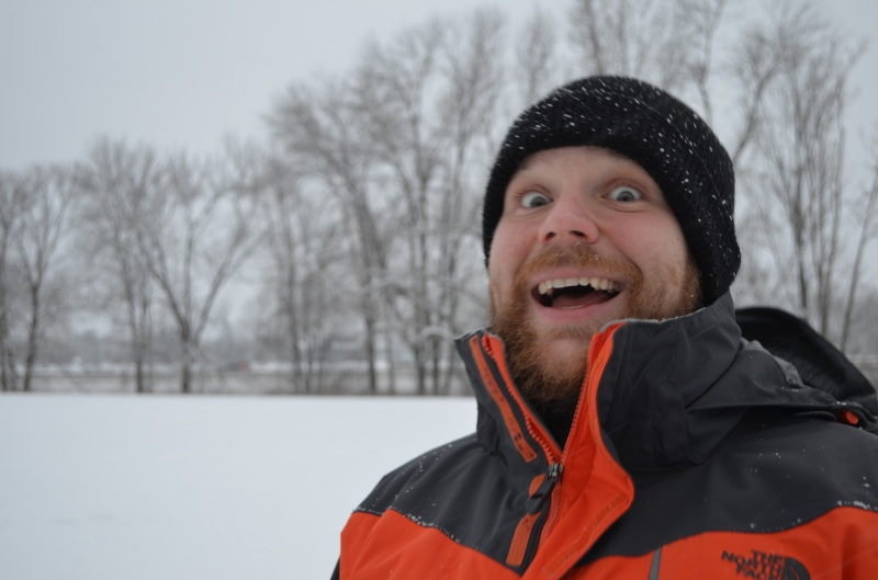 Bryan enjoying the snow