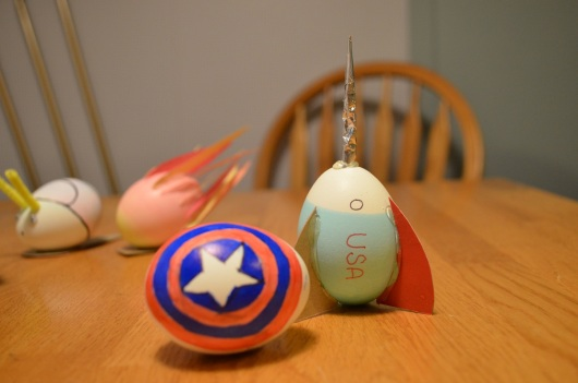 "Captain America shield and ""To Infinity and Beyond!"""