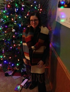 stylin' in front of the tree