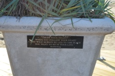 quote on one of the planters
