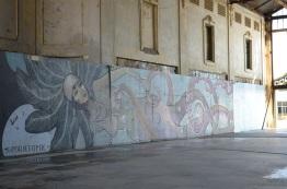 mural inside of the ramshackle casino
