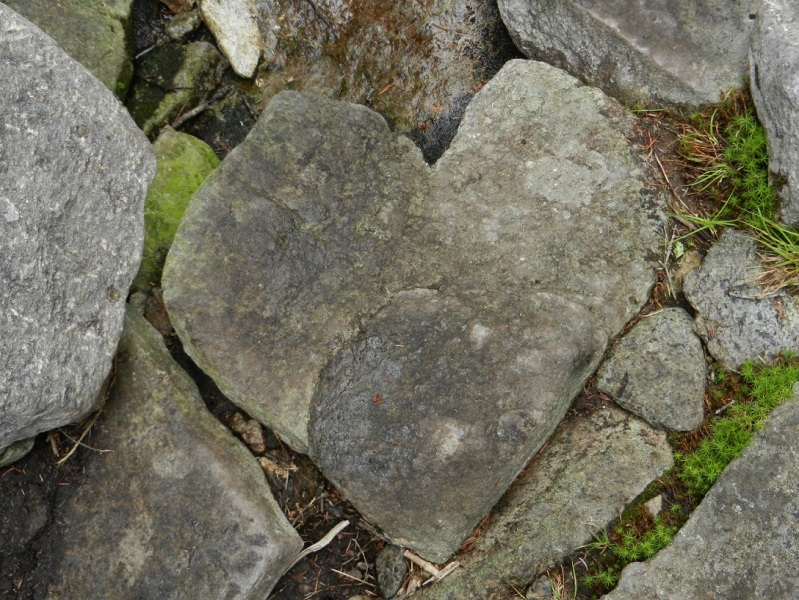 a heart rock found in the Adirondacks