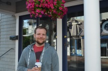 my awesome husband coffee in hand to keep me company for early morning pictures