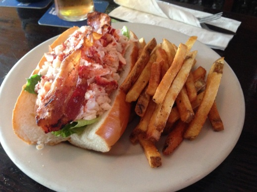 lobster roll with bacon
