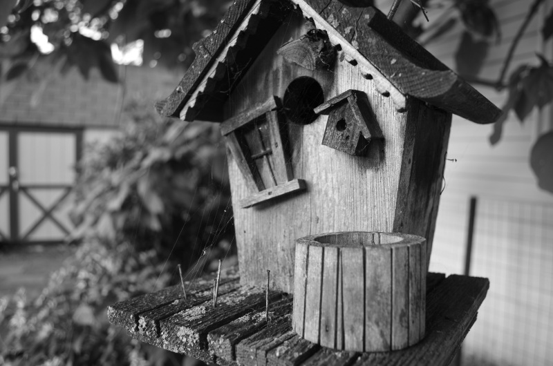 weathered decorative birdhouse