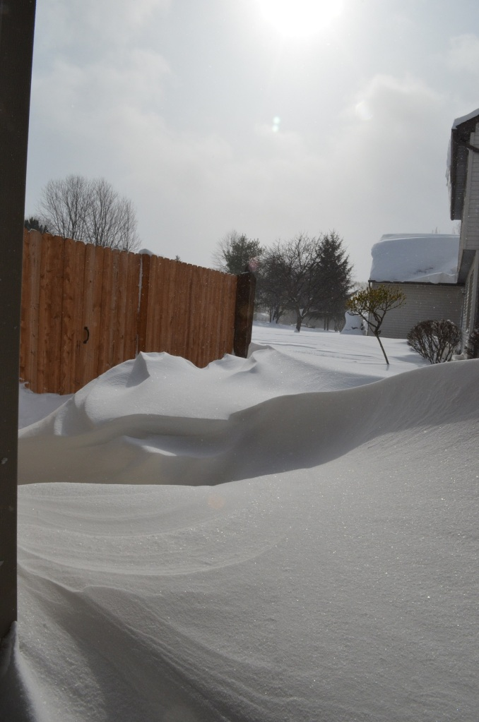 the drifting around the corner of the house were crazy