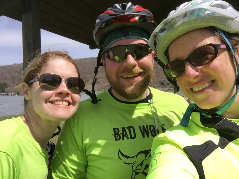 Brenna, Bryan, and me at the half way point
